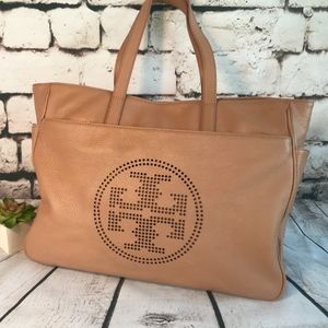 TORY BURCH Nude Leather Tote, Never Used